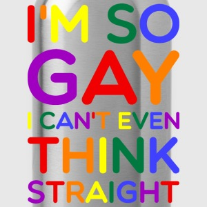 So Gay Can't Think Straight  - Pride Edition  Hoodies - Water Bottle