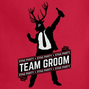 Team Groom / Stag Party (2C) T-Shirts - Adjustable Apron