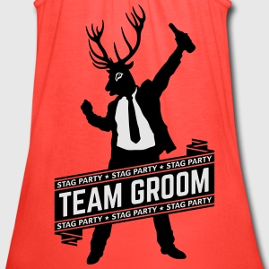 Team Groom / Stag Party (2C) T-Shirts - Women's Flowy Tank Top by Bella