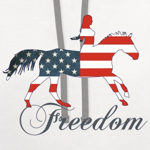 Freedom - Horse T-Shirts - Contrast Hoodie