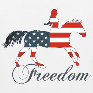 Freedom - Horse T-Shirts - Men's Premium Tank
