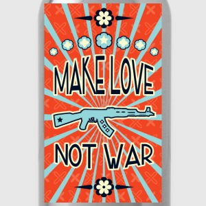 make love not war propaganda Hoodies - Water Bottle