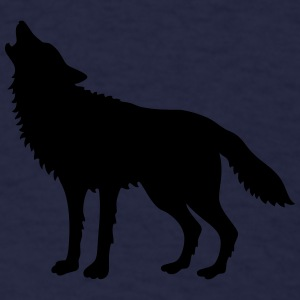 Howling Wolf (Silhouette) Caps - Men's T-Shirt