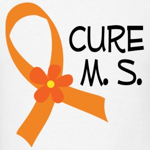 Cure M.S. Awareness Hoodies - Men's T-Shirt