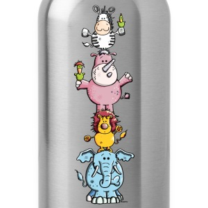 Funny Animal Circus - Zoo T-Shirts - Water Bottle
