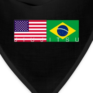 Jiu Jitsu with USA and Brazil Flag - Bandana
