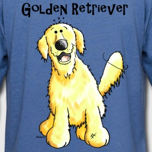 Happy Golden Retriever - Dog - Dogs T-Shirts - Unisex Lightweight Terry Hoodie