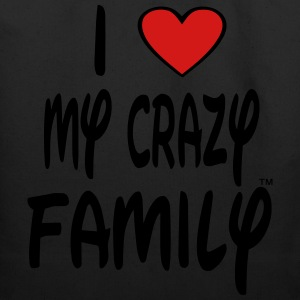 I LOVE MY CRAZY FAMILY - Eco-Friendly Cotton Tote