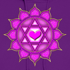 LOTUS OF THE HEART - Heart chakra - Anahata, c, Ce - Women's Hoodie