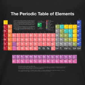 Periodic Table of Elements (PTE) light. Sweatshirts - Men's Premium Long Sleeve T-Shirt