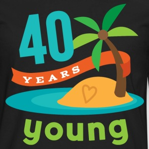 40th Birthday hawaiian T-Shirts - Men's Premium Long Sleeve T-Shirt