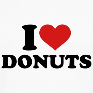 I love Donuts T-Shirts - Men's Premium Long Sleeve T-Shirt