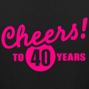 Cheers 40 birthday T-Shirts - Men's Premium Tank