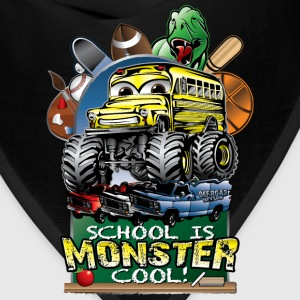 Monster School Bus Kids' Shirts - Bandana