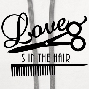 love is in the hair (d, 1c) T-Shirts - Contrast Hoodie