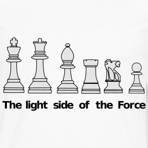 The light side of the Force, chess, pawns T-Shirts - Men's Premium Long Sleeve T-Shirt