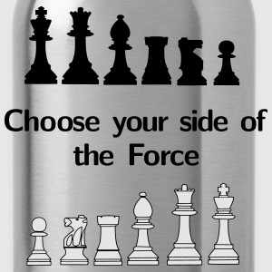 Choose your side of the Force, chess, pawns T-Shirts - Water Bottle