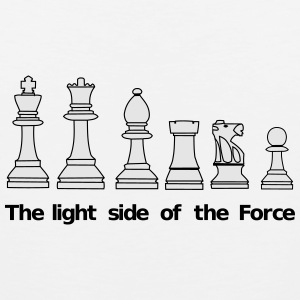 The light side of the Force, chess, pawns Buttons - Men's Premium Tank