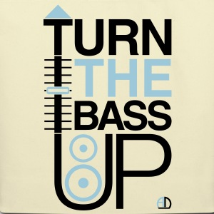 TURN THE BASS UP - Reggae colours - Crossfader DJ  - Eco-Friendly Cotton Tote