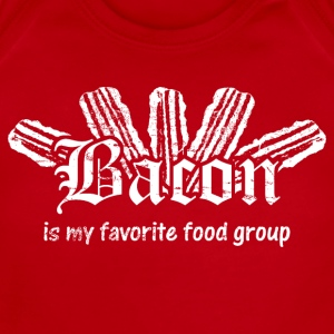 Bacon is My Favorite Food Group - White Print Kids' Shirts - Short Sleeve Baby Bodysuit