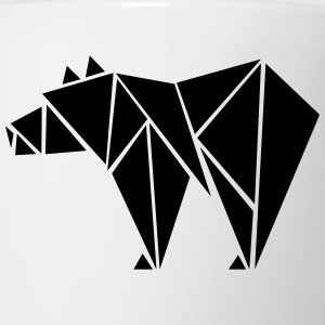 Low Poly Grizzly Bear T-Shirts - Coffee/Tea Mug