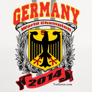 Germany 2014 Womens White - Contrast Hoodie
