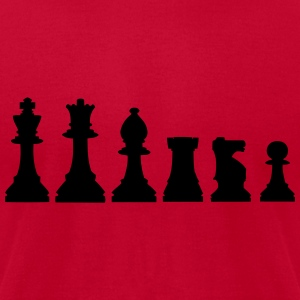 Pawns, chessmen, chess pieces Long Sleeve Shirts - Men's T-Shirt by American Apparel