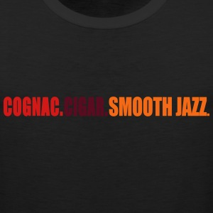 cognac_cigar_smooth_jazz T-Shirts - Men's Premium Tank