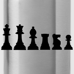 Pawns, chessmen, chess pieces Caps - Water Bottle