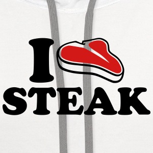 I love Steak Kids' Shirts - Contrast Hoodie