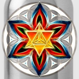 Merkaba, Flower of Life, Sacred Geometry T-Shirts - Water Bottle