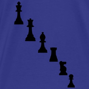 Pawns, chessmen, chess pieces Bags & backpacks - Men's Premium T-Shirt