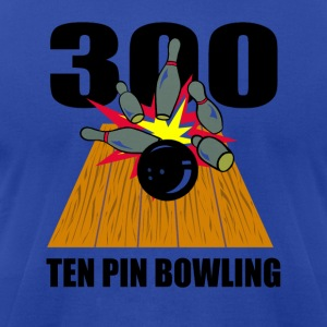 Bowling Ten Pin Hoodies - Men's T-Shirt by American Apparel