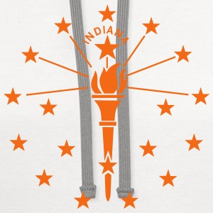 State of Indiana T-Shirts - Contrast Hoodie