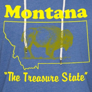 montana state design T-Shirts - Unisex Lightweight Terry Hoodie