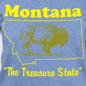 montana state design T-Shirts - Women's Wideneck Sweatshirt