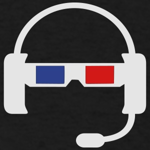 Headset plus 3D Glasses - Men's T-Shirt