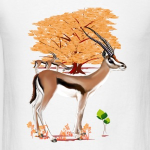 Gazelle n Tree  - Men's T-Shirt