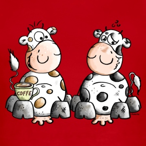 Cute Cows - Cow - Coffee Kids' Shirts - Short Sleeve Baby Bodysuit
