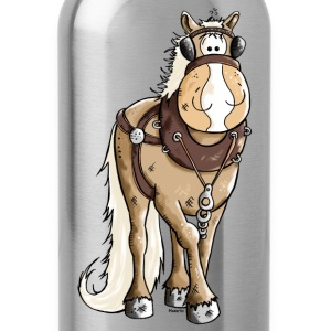Happy Heavy Horse - Draft Horses T-Shirts - Water Bottle