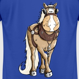 Happy Heavy Horse - Draft Horses Hoodies - Men's T-Shirt by American Apparel