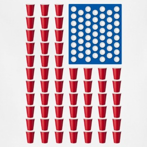 Beer Pong Drinking Game American Flag T-Shirts - Adjustable Apron