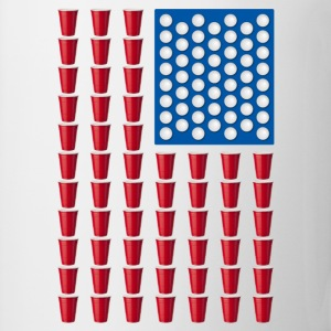 Beer Pong Drinking Game American Flag T-Shirts - Coffee/Tea Mug