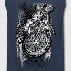 MX Dirt Bike Grunge Kids' Shirts - Men's Premium Tank