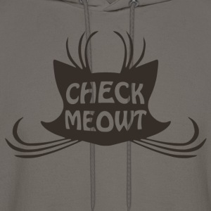 Check Meowt Kitty Cat Meow - Men's Hoodie