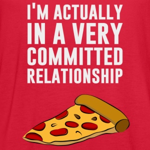 Pepperoni Pizza Love - A Serious Relationship Women's T-Shirts - Women's Flowy Tank Top by Bella