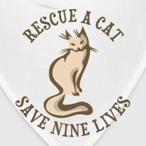 Rescue A Cat Save Nine Lives T-Shirts - Bandana
