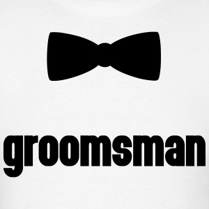 Groomsman Bow Tie  Hoodies - Men's T-Shirt