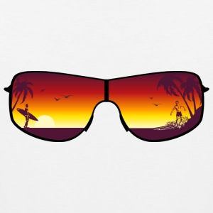 Summer Sunglasses T-Shirts - Men's Premium Tank