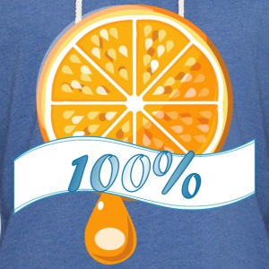 100 percent Orange Juice - Unisex Lightweight Terry Hoodie